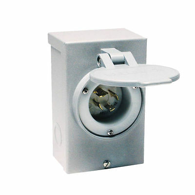 Reliance PB30 Manual Outdoor Power Inlet Box, Gray