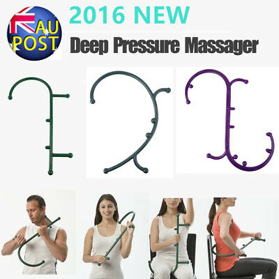 3 Type Massager Theracane Body Self Massage Muscle Deep Pressure Trigger AU @#~~