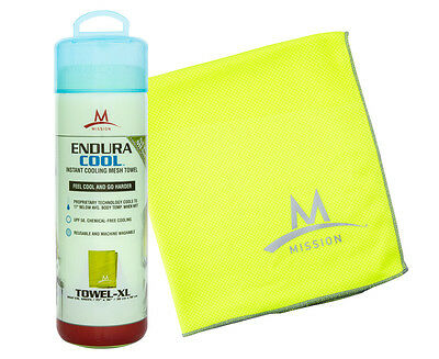 Mission EnduraCool Instant Cooling XL Mesh Towel - Green