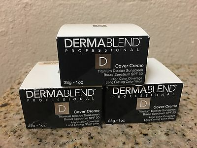 Dermablend Cover Creme Foundation CHOOSE SHADE Full Size 1 oz  SPF 30
