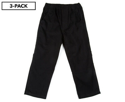 S. Cool Kids' Drill Pant 3-Pack - Black