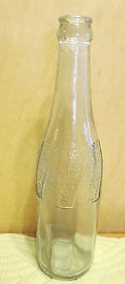 Pepsi Cola Embossed Soda Pop Bottle Without Graphics Vtg   t1
