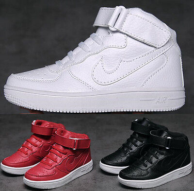 Kids White Sports Shoes Plus Cotton Warm Student Boy Girls Casual Board Shoes