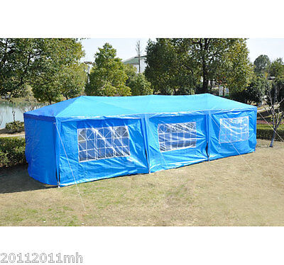 10' x 30' Canopy Party Tent Gazebo Wedding Cater Events Heavy duty w/ Walls Blue