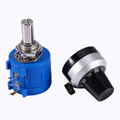 Hot 10K Ohm 3590S-2-103L Potentiometer With 10 Turn Counting Dial Rotary Knob CN