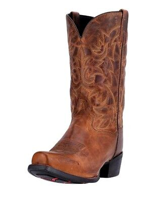 Laredo Western Boot Mens 12 Bryce Cowboy Heel CST Tan Distressed 68442