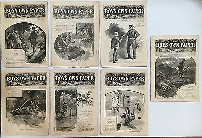Boys Own Paper Comic Magazine Lot Of 7 #775 - 781