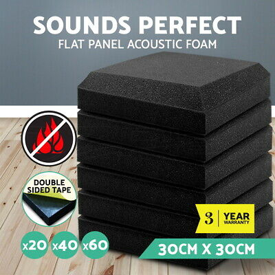 20/40/60pcs 30x30CM Studio Acoustic Foam Sound Proofing Ceiling Tile Panels