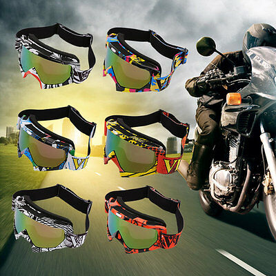 Trendy Unisex Motorcycle Googles Outdoor Sport Windproof Dustproof Eye Glasses#U