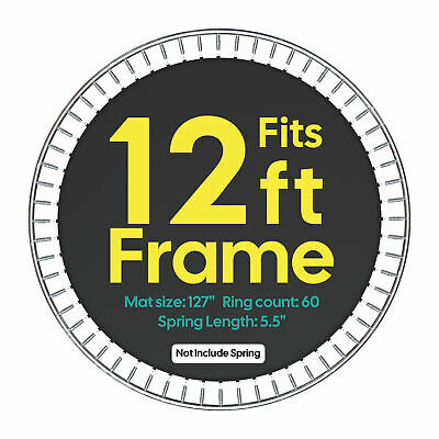 """10.6' Trampoline Jumping Mat 60 Rings for 12' Frame 5.5"""" Springs Replacement"""