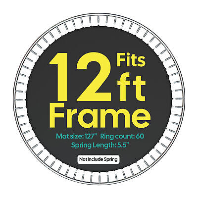 """Jumping Mat 10.6' for 12' Trampoline Replacement 60Ring 5.5"""" Spring 8 Row Stitch"""
