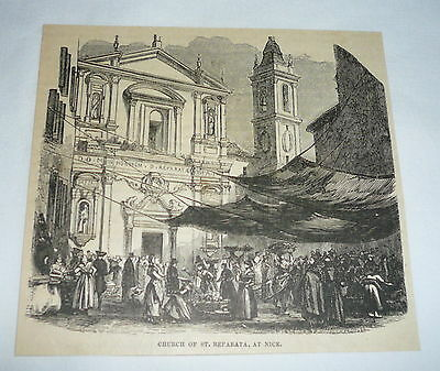 1877 magazine engraving ~ CHURCH OF ST. REPARATA ~ France