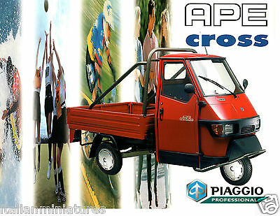 Ape Piaggio Cross Truck Scooter UK Sales Brochure & Price Reliant Cars