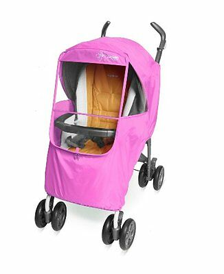 NEW Manito Elegance Plus Stroller Weather Shield/Rain Cover - Pink