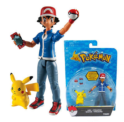NEW 100% OFFICIAL TOMY POKEMON Ash & Pikachu Figure - LIMITED STOCK