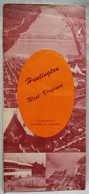 HUNTINGTON WEST VIRGINIA SOUVENIR TOURISM INFORMATION BROCHURE GUIDE 1950s