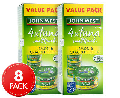 2 x John West Tuna Tempters Lemon & Cracked Pepper 4pk