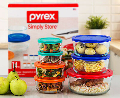 Pyrex Glass Food Storage 14-Piece Set