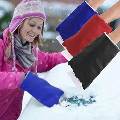 Winter Car Snow Shovel Removal Clean Tool Keep Warm Gloves Car Accessories #U