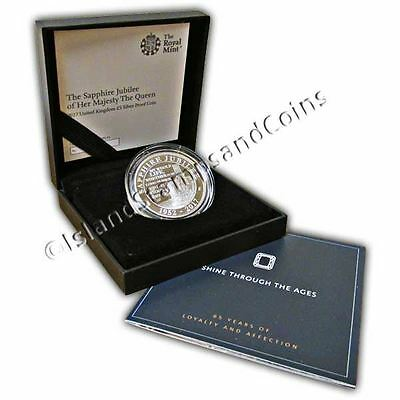 The Queen's Sapphire Jubilee 2017 United Kingdom �5 Silver Proof Coin