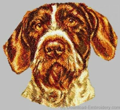 Embroidered Men's Polo - German Wirehaired Pointer DLE1543 Size S - XXL