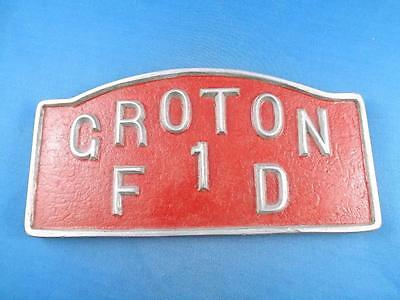 Croton Fire Department 1 Metal Sign Plaque Emblem Fd Vintage Collectable