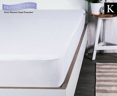 Protect-A-Bed King Bed Premium Cotton Terry Mattress Protector