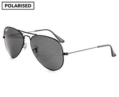 Ray-Ban Aviator Polarised RB3025-002/58-58 Sunglasses - Black