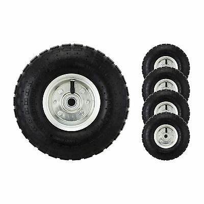 "4 x 10"" Pneumatic Sack Truck Trolley Wheel Barrow Tyre Tyres"