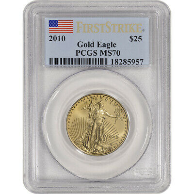 2010 American Gold Eagle (1/2 oz) $25 - PCGS MS70 - First Strike