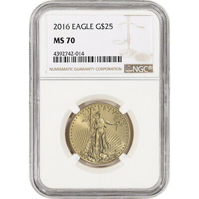 2016 American Gold Eagle (1/2 oz) $25 - NGC MS70