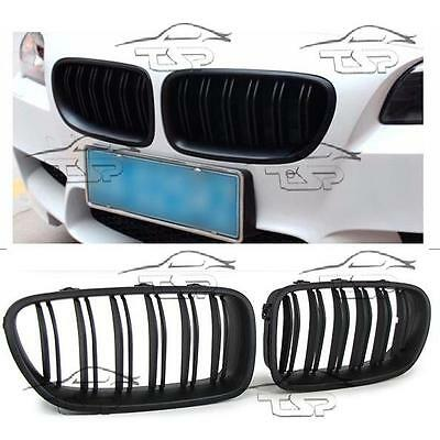 FRONT GRILLS BLACK MATT FOR BMW F10 F11 from 2010 M5 LOOK SERIES 5 SPOILER NEW