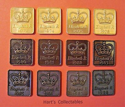 ROYAL MINT TOKENS 1971 to 1988 ALL TOKENS FROM PROOF SETS