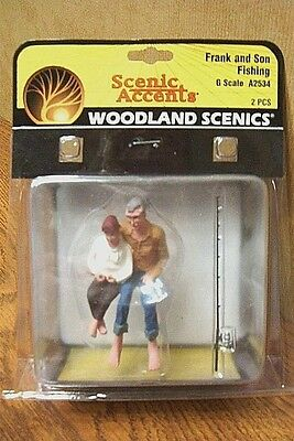 Woodland Scenics Frank And Son Fishing  G Scale Figures