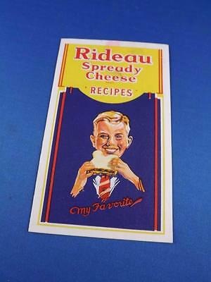 Rideau Spready Cheese Recipes Flyer Ingersoll Cheese Company Advertising