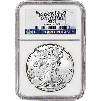 2017-(W) American Silver Eagle - NGC MS69 - Early Releases