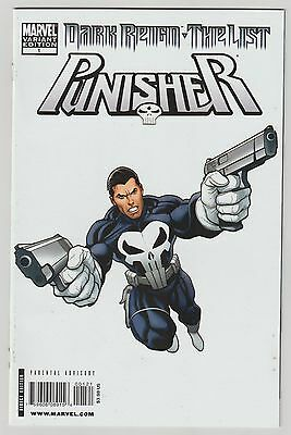 Dark Reign The List Punisher #1 Cho White Variant 1:100 Rare And Hard To Find