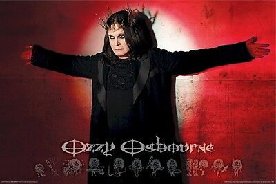 OZZY OSBOURNE ~ CROSS 24x36 MUSIC POSTER Black Sabbath NEW/ROLLED!