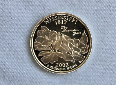 2002-S Mississippi Silver State Proof Quarter Ultra Deep Cameo