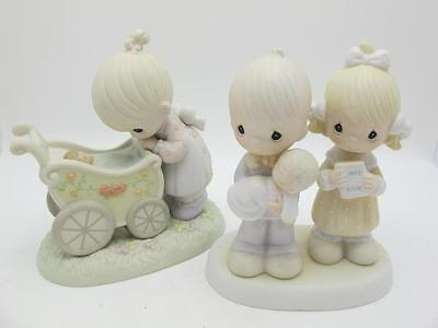 Lot of 2 Precious Moments New Born Baby Something from Above Rejoice Figures Set