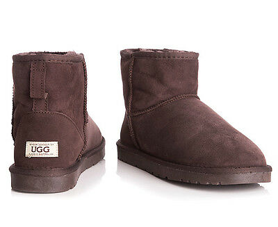 OZWEAR Connection Classic Mini Ugg Boot - Chocolate