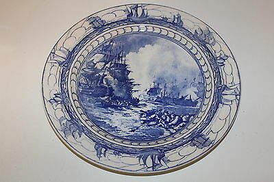 Vintage Royal Doulton Battle of the Nile Blue Transfer plate 10 1/2""