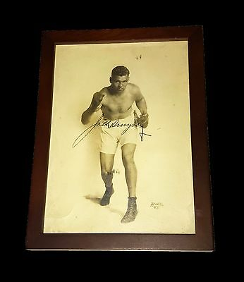 """Jack Dempsey Hand Signed 8""""x5.5"""" Autographed Photo Framed With Coa Very Rare"""