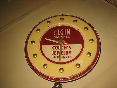 Vintage Elgin Watch Advertising Clock