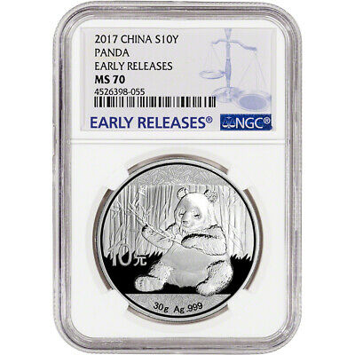 2017 China Silver Panda (30 g) 10 Yuan - NGC MS70 - Early Releases