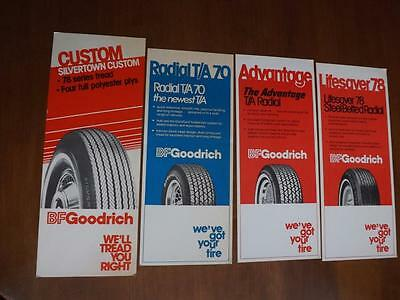 Bf Goodrich Tires Sales Flyers Lot Of 4 Radial T/a 70 Silvertown Lifesaver 78