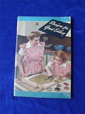 Recipes For Good Eating Booklet Crisco Vintage 1945 Pastries Cakes Cookies