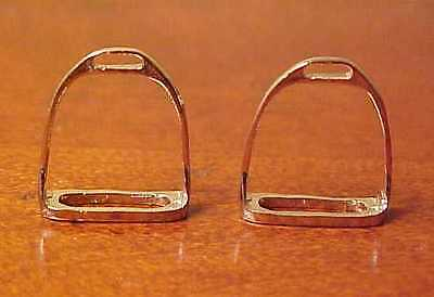 RDLC English Stirrups (without Pads/Treads) in Traditional 1:9 Scale SILVER TONE