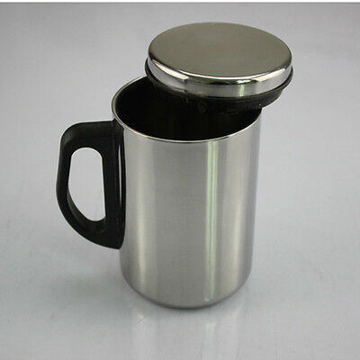 500ML Double Wall Layer Outdoor Camping Insulation Stainless Steel Mug Cup+Cover