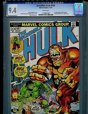Incredible Hulk #169 CGC 9.4 (1973) 1st First Bi-Beast White Pages Harpy MODOK
